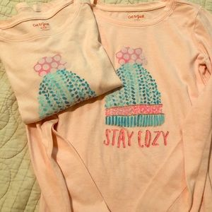 2 cat & jack pink stay cozy shirt, s 7